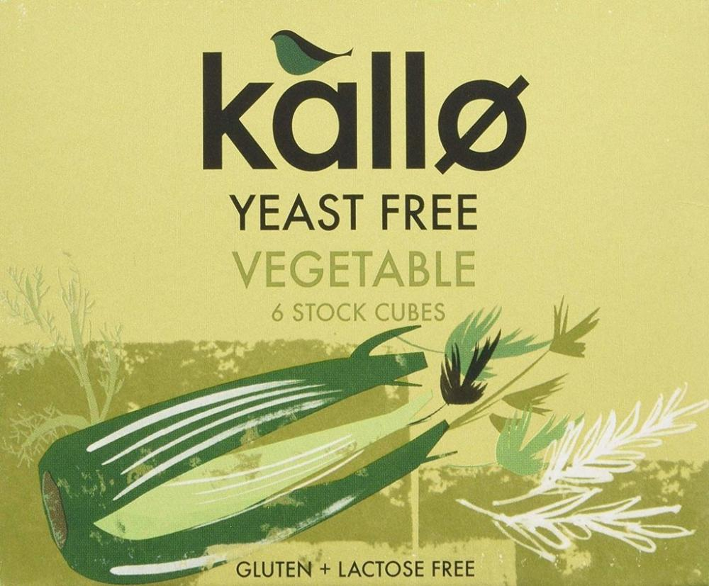 Kallo 6 Yeats Free Vegetable Stock Cubes 66g