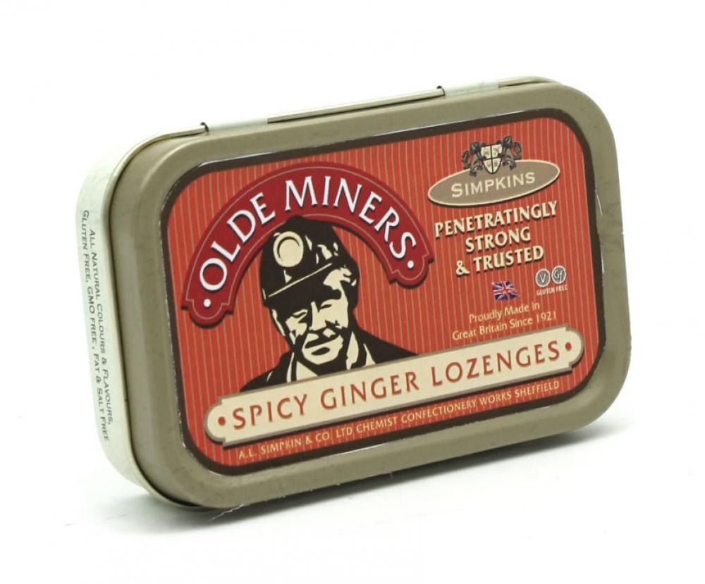 Simpkins Olde Miners Original Spicy Ginger Lozenges 40g
