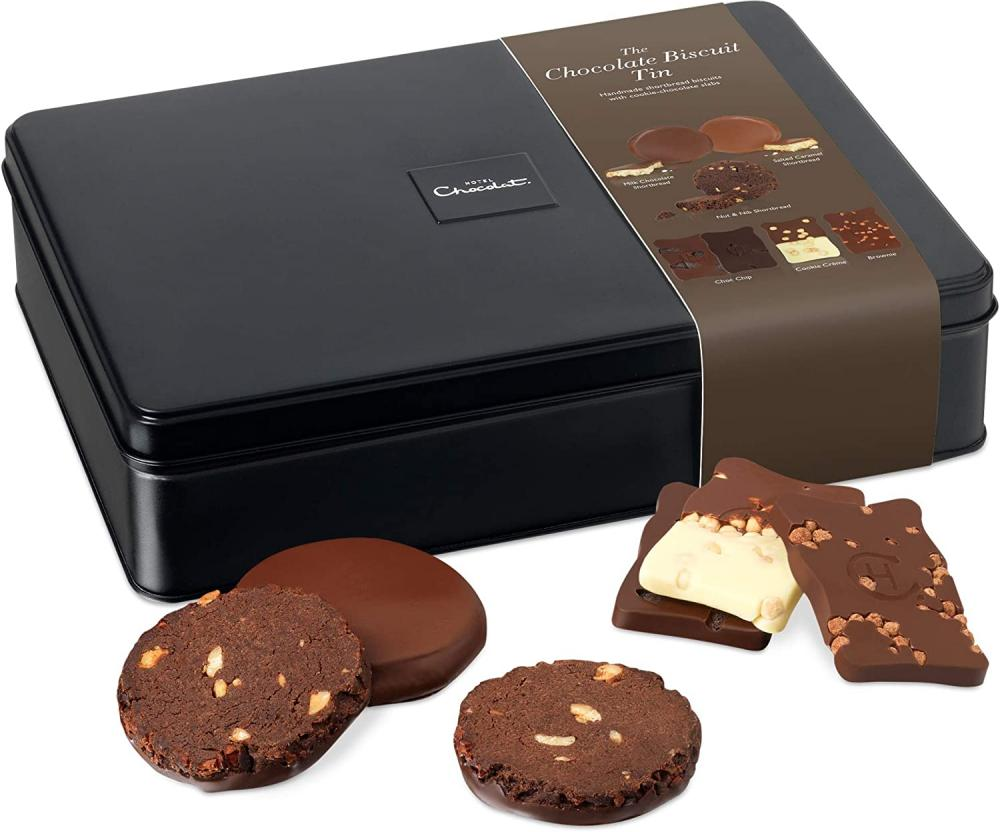 Hotel Chocolat Chocolate Biscuit Tin 21 Luxury Biscuits