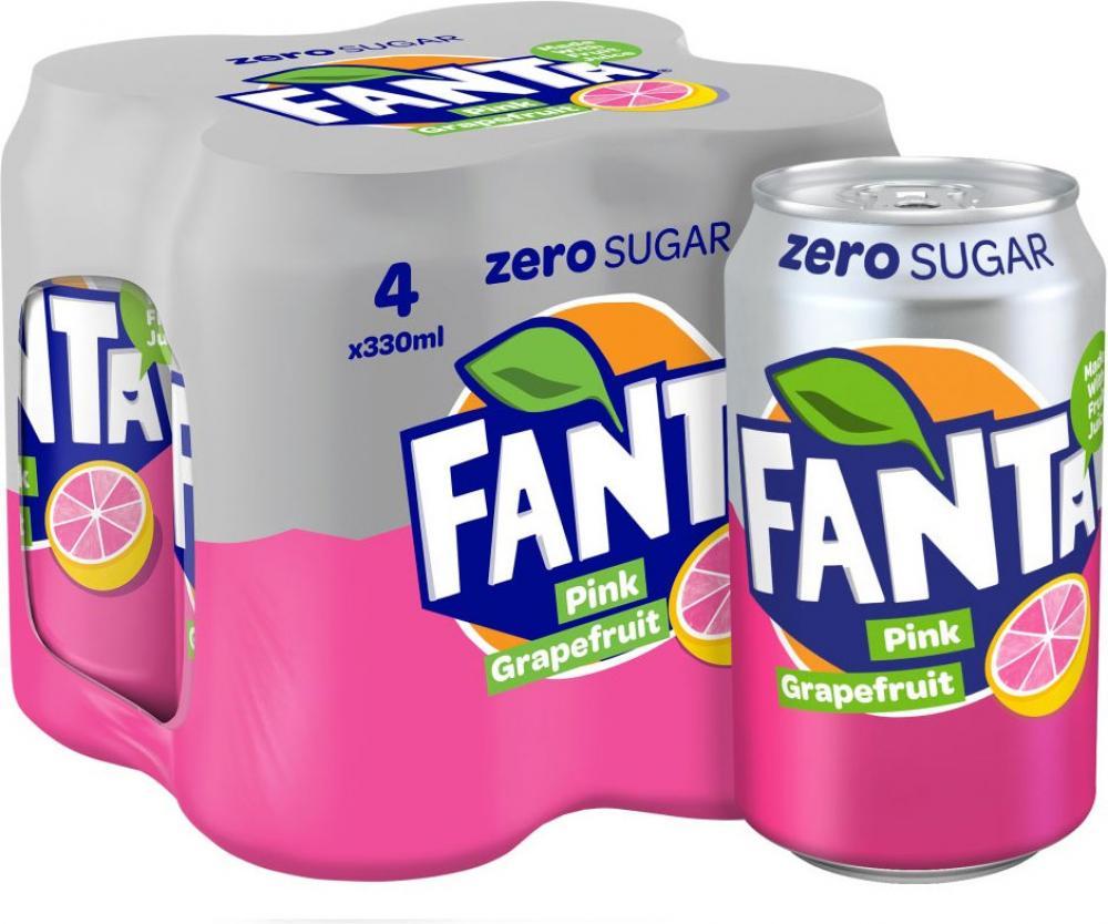 Fanta Zero Pink Grapefruit 4 x 330ml