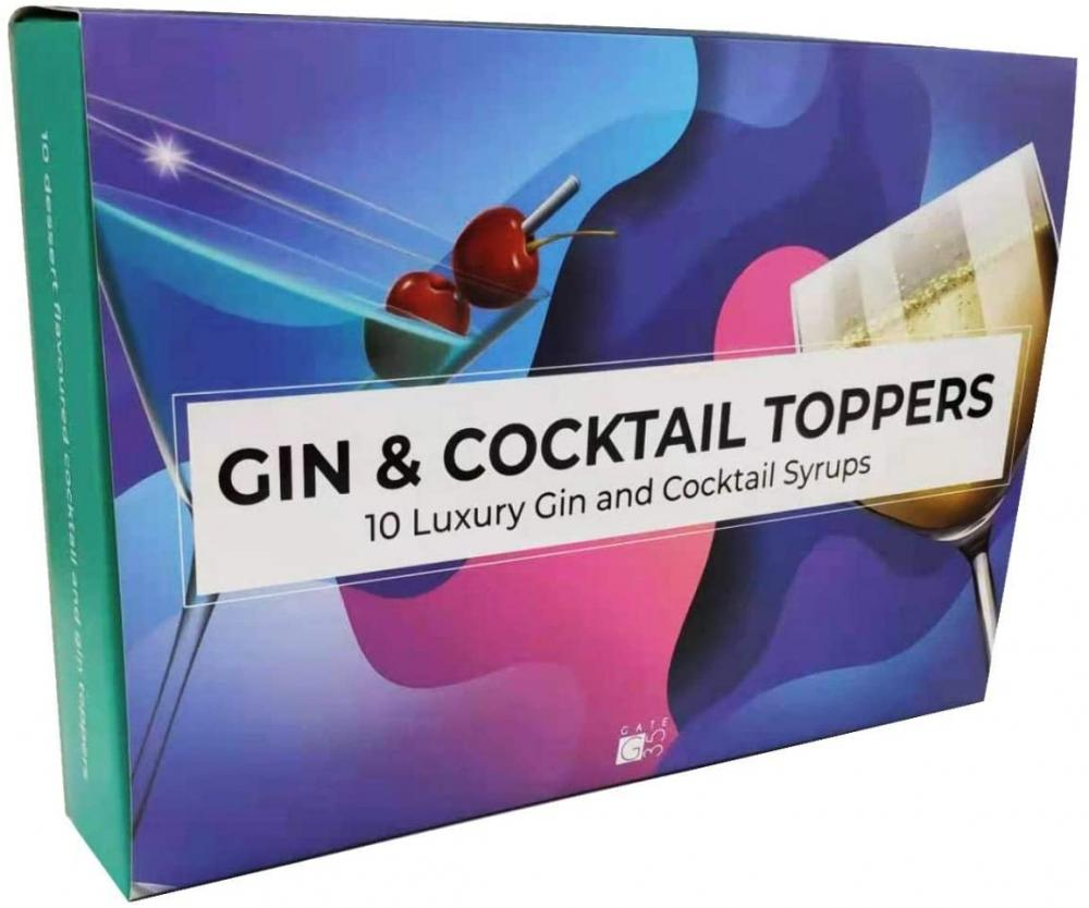 Gate 35 Luxury Set of 10 Gin and Cocktail Toppers 600ml