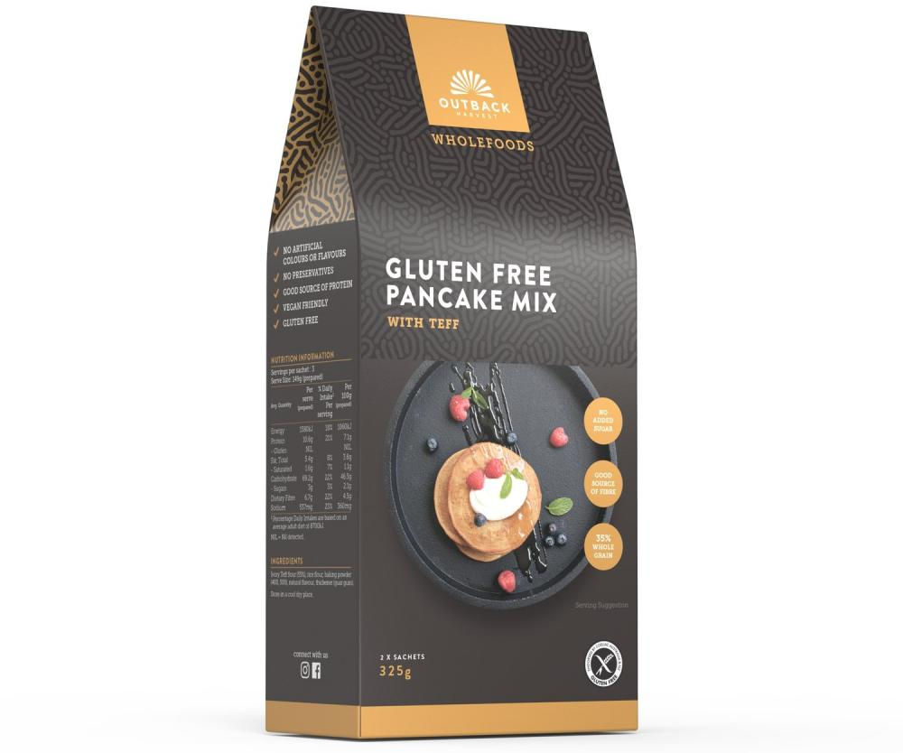 SALE  Outback Gluten Free Pancake Mix With Teff 325g