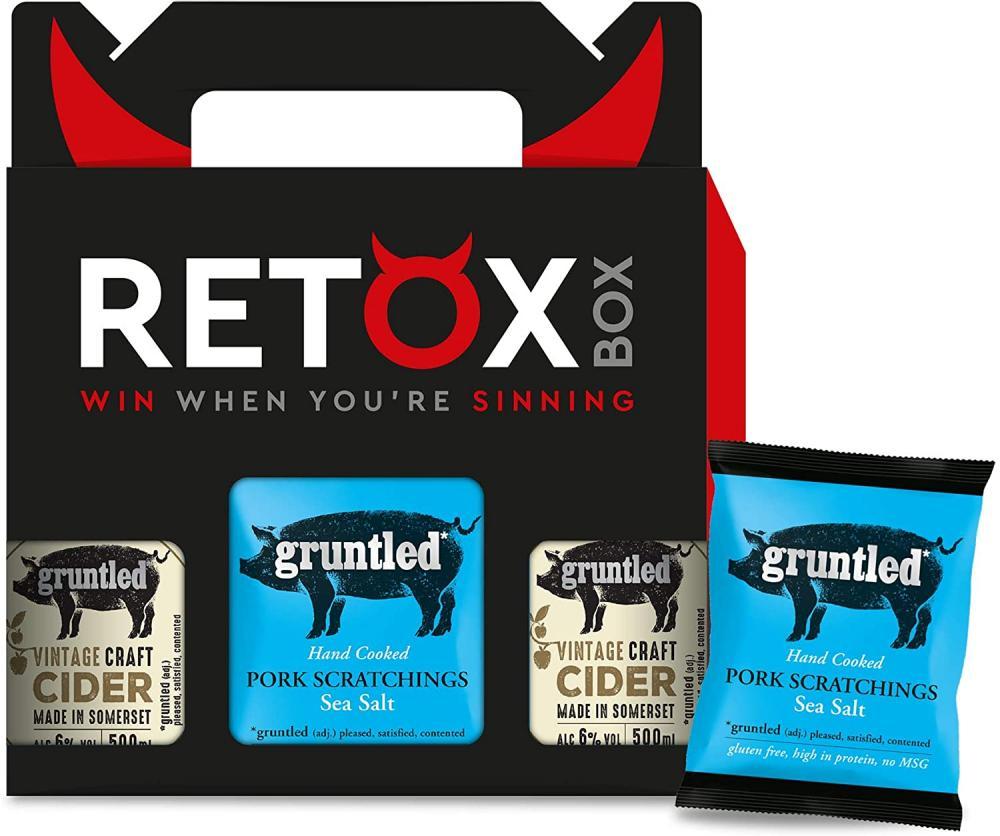 Gruntled Premium Cider and Pork Scratchings Gift Set