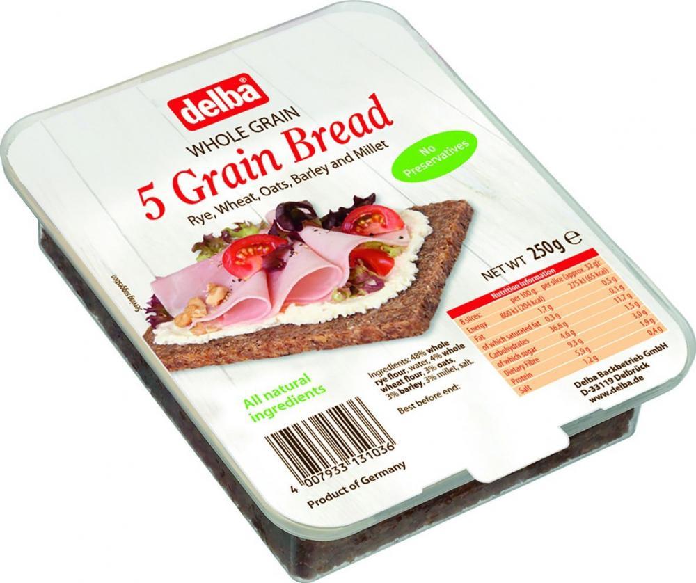 Delba 5 Grain Bread 250 g