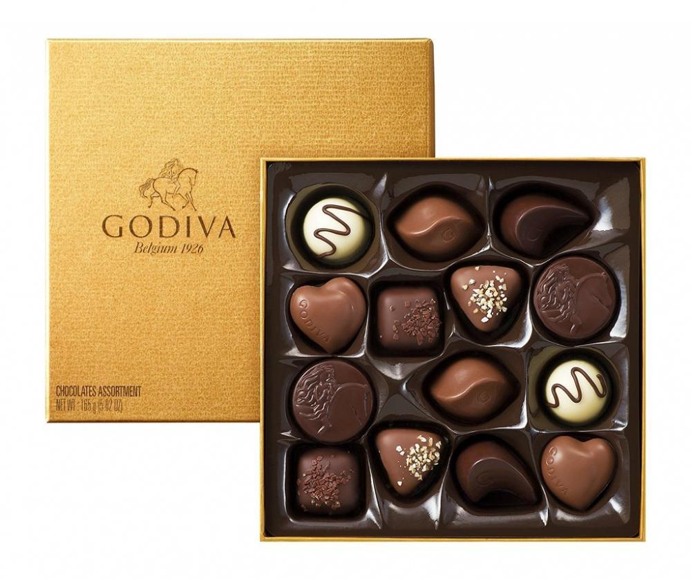 NEXT 100  Godiva Gold Box 14 pieces