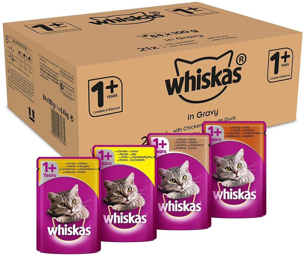 Whiskas Wet Food Pouches Mixed Selection In Gravy LUCKY DIP 100 g