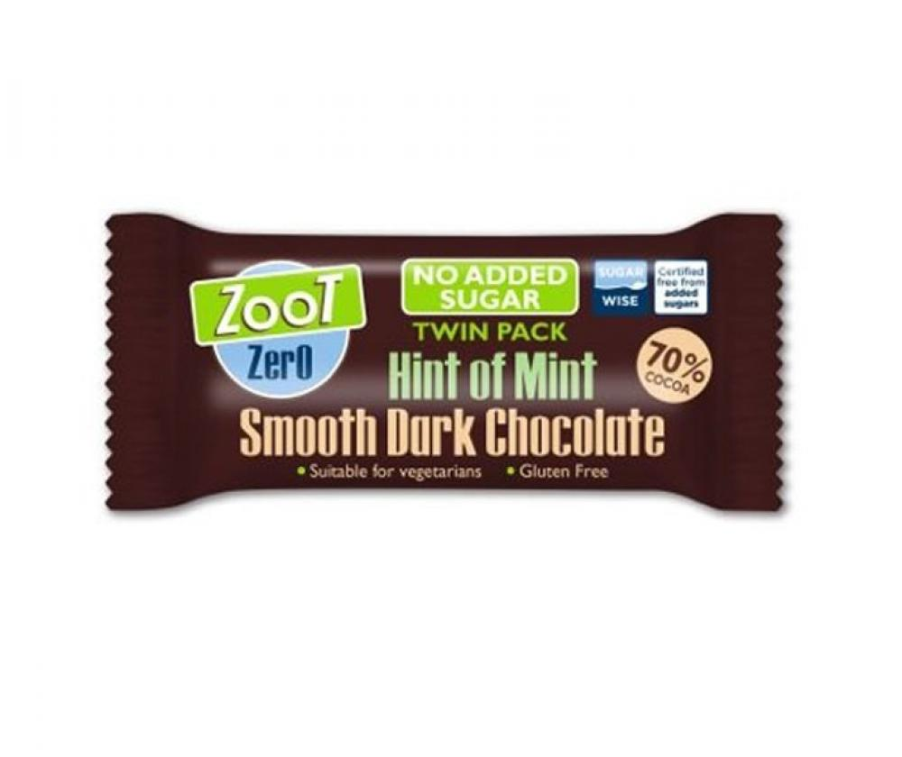 Zoot Mint Smooth Dark Chocolate Twin Pack 40g