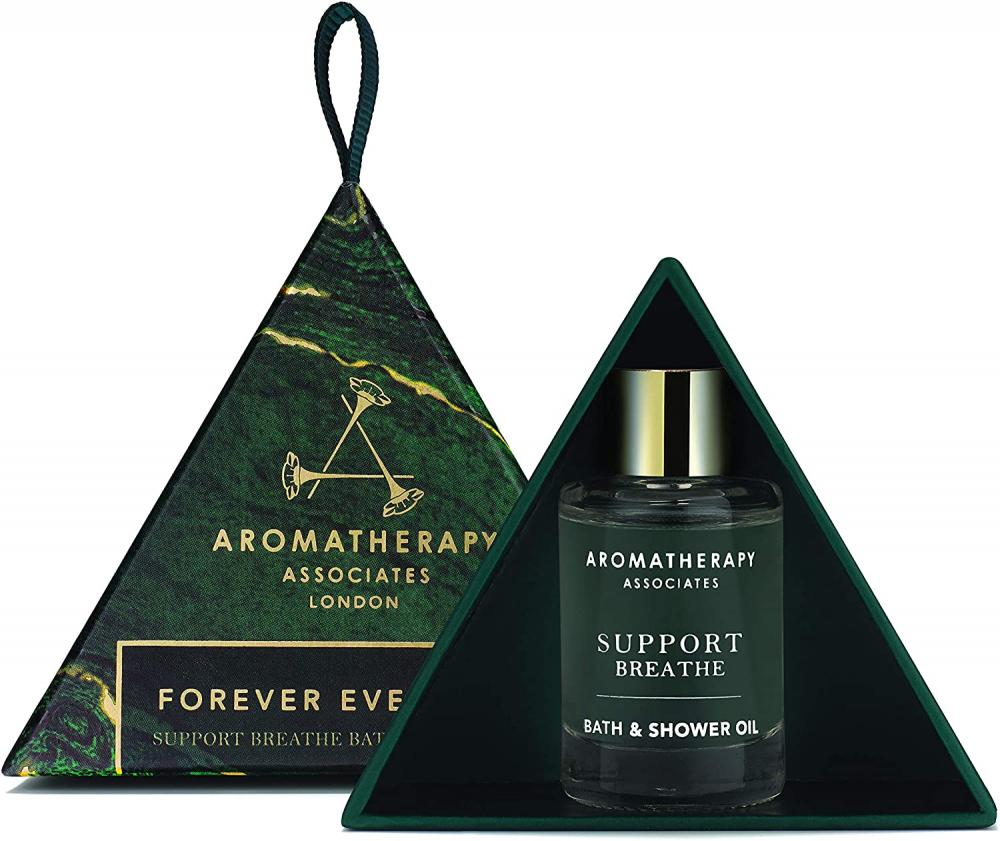Aromatherapy Associates Forever Evergreen Hanging Decoration Gift Breathe Bath and Shower Oil 9ml