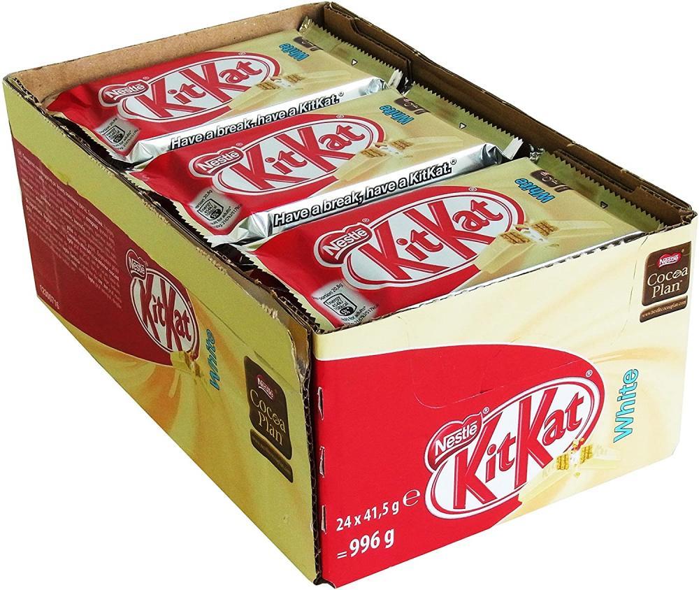 CASE PRICE  Nestle Kitkat 4 Fingers White 24 x 41.5g