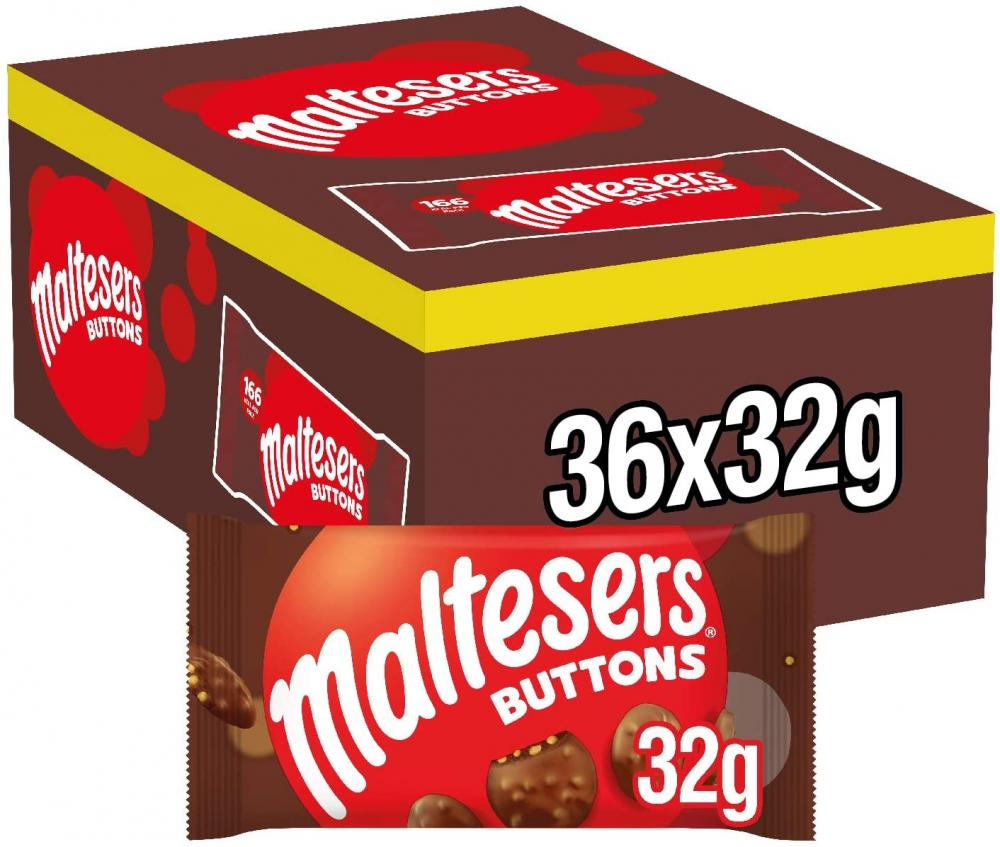 CASE PRICE  Maltesers Buttons 36 x 32g