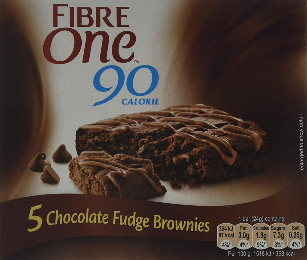 Fibre One 90 Calorie Chocolate High Fibre Brownies 5x24g Damaged Box