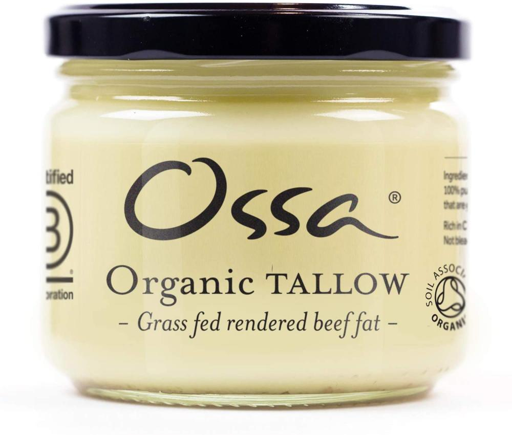 Ossa Organic Tallow Traditional Beef Fat or Beef Dripping 265 g