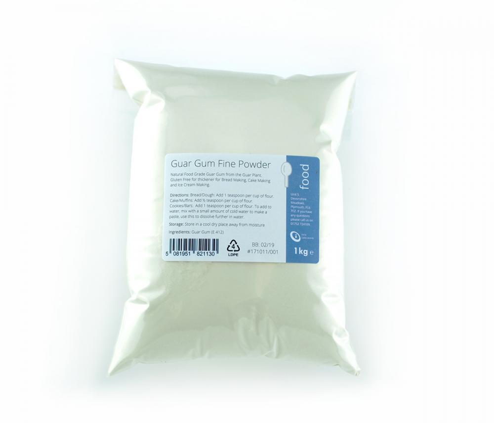 Natural Food Guar Gum Fine Powder 1Kg