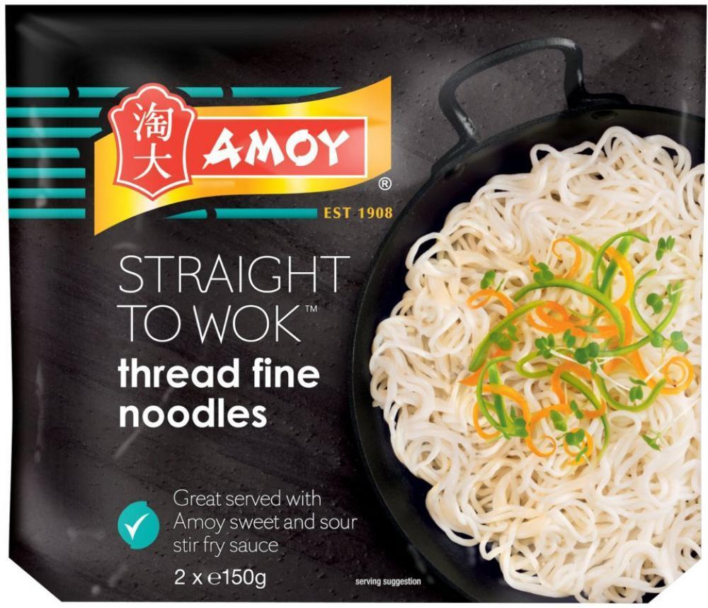 Amoy Straight To Wok Thread Fine Noodles 150g x 2
