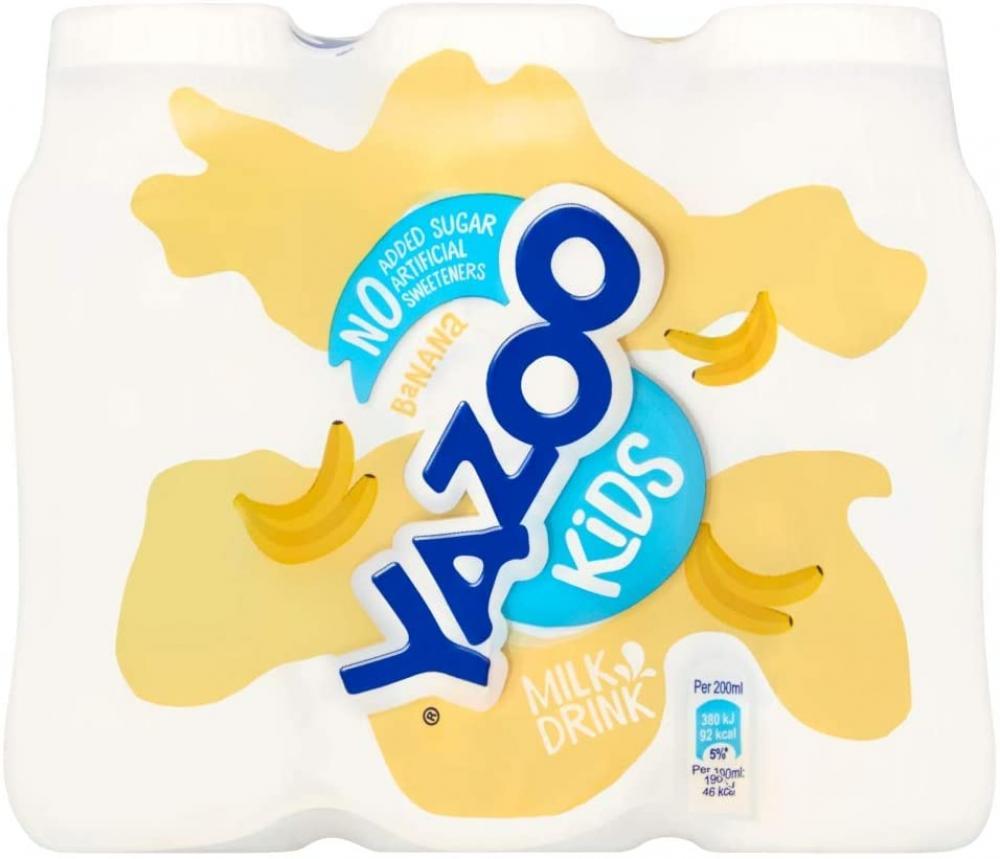 Yazoo Kids No Added Sugar Banana Milk Drink 200ml