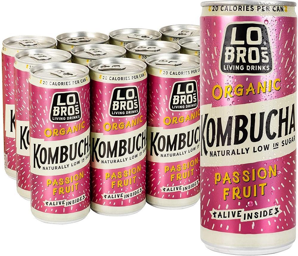 Lo Bros Organic Passion Fruit Kombucha 250ml