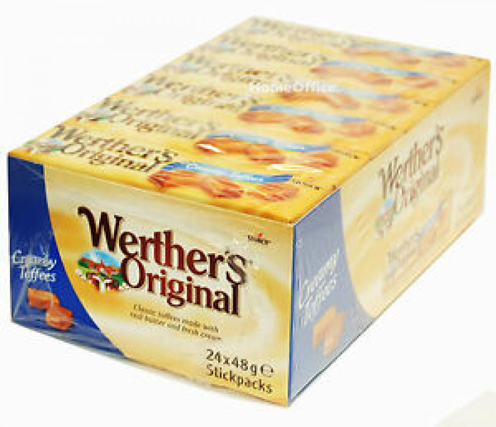 CASE PRICE  Werthers Original Creamy Toffees 24 x 48g