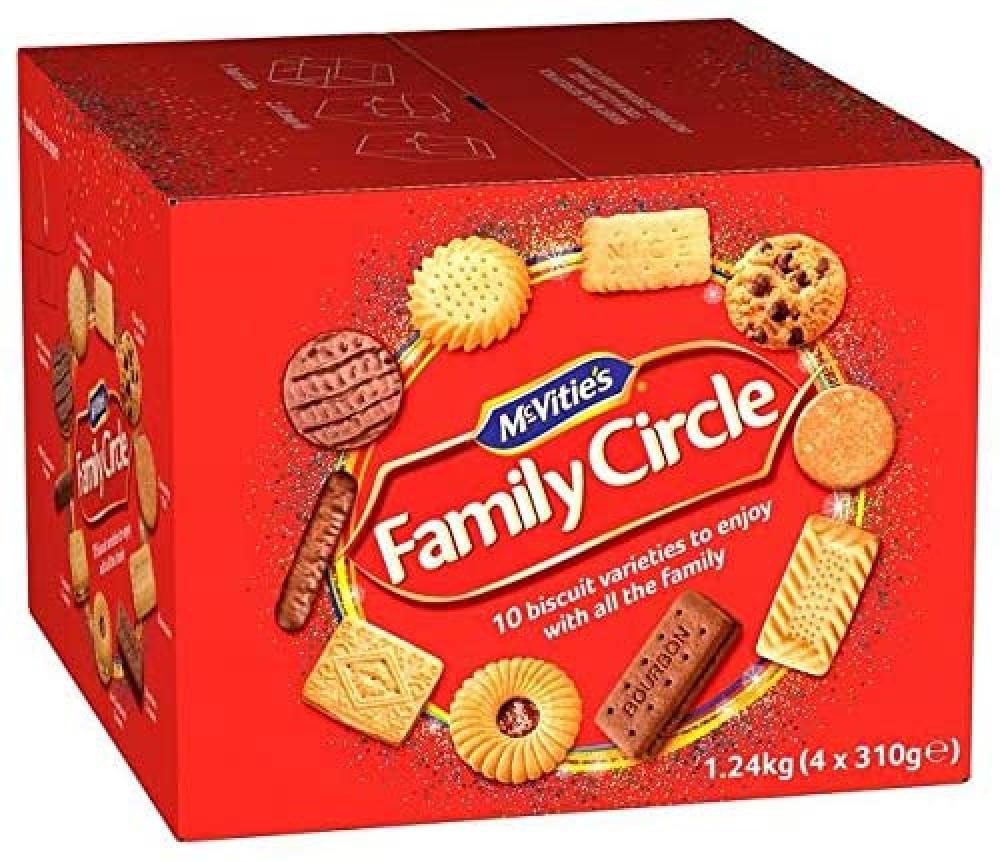 SALE CASE PRICE  McVities Family Circle 4 x 310g