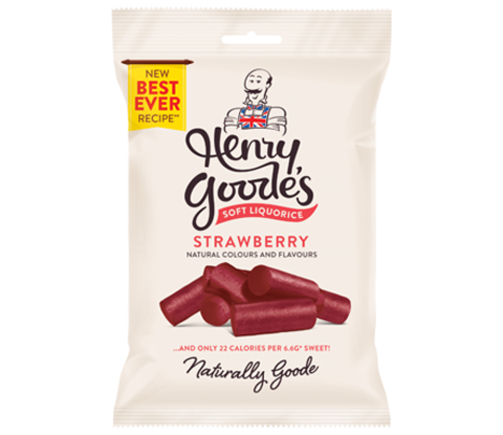 Henry Goodes Soft Eat Red Liquorice 200g