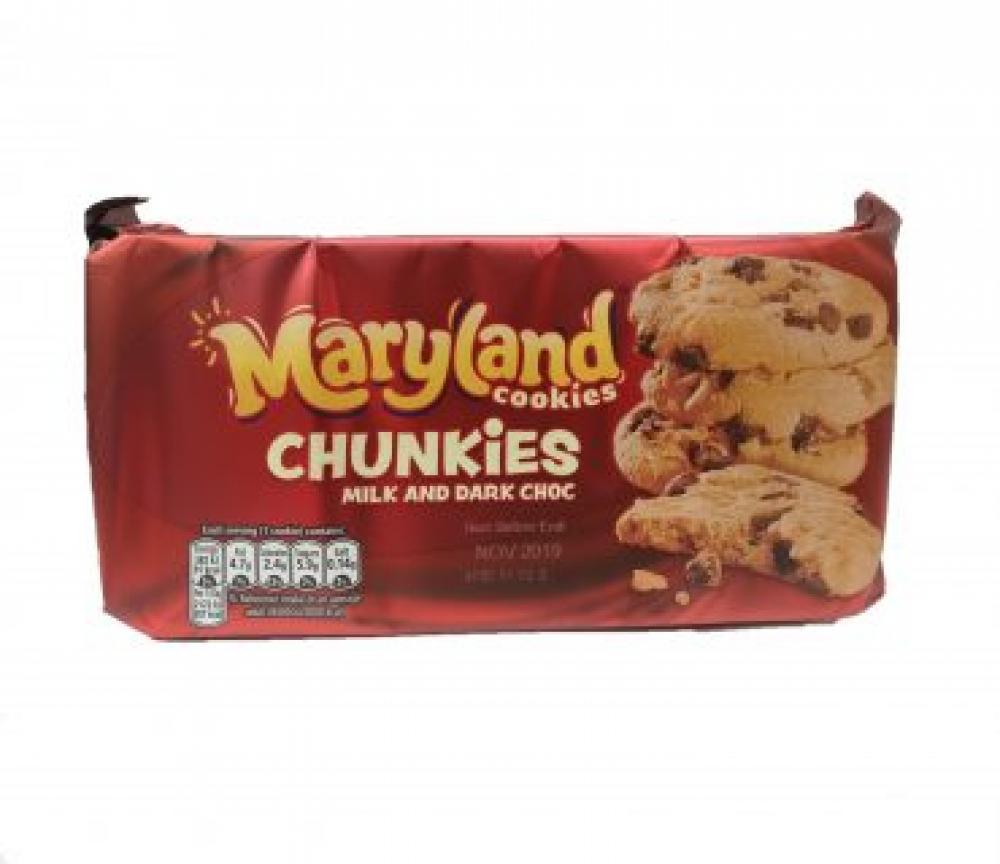 Maryland Cookies Chunkies Milk and Dark Choc 144g