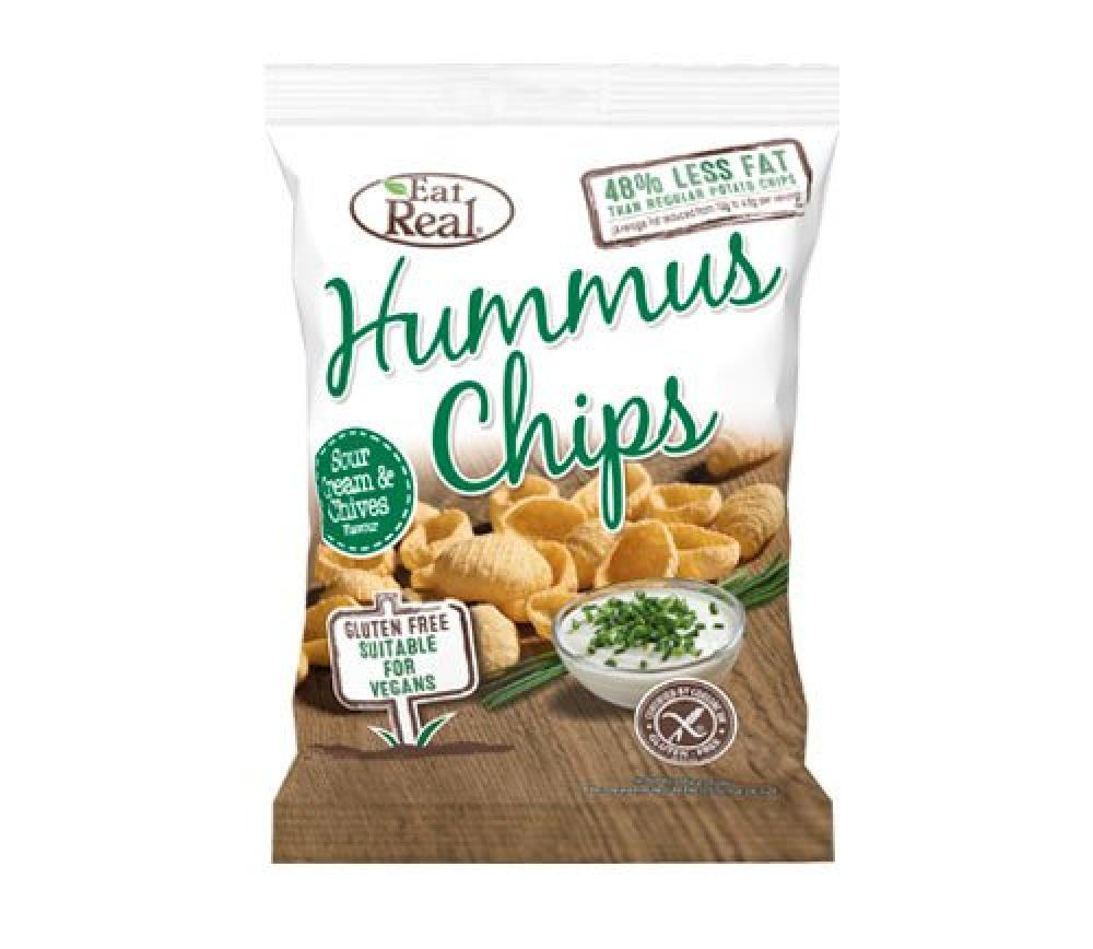 Eat Real Sour Cream and Chives Hummus Chips 25 g