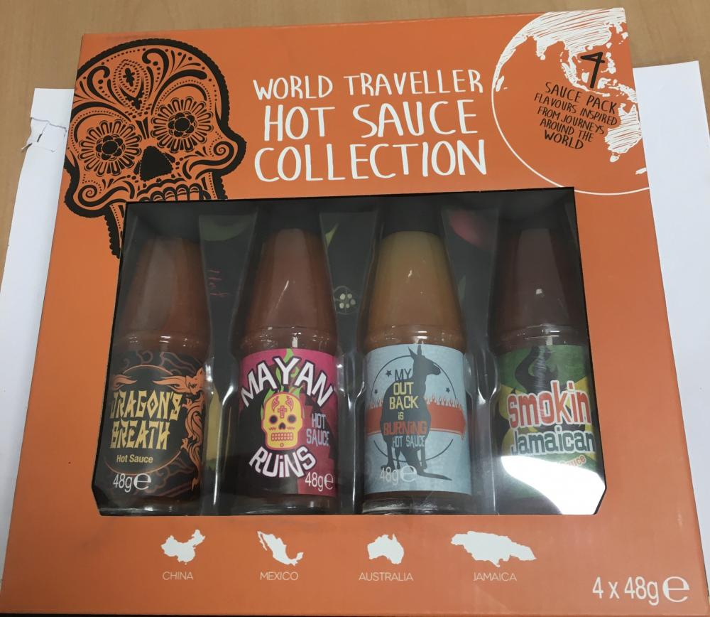 SALE  World Traveller Hot Sauce Collection 4 x 48g