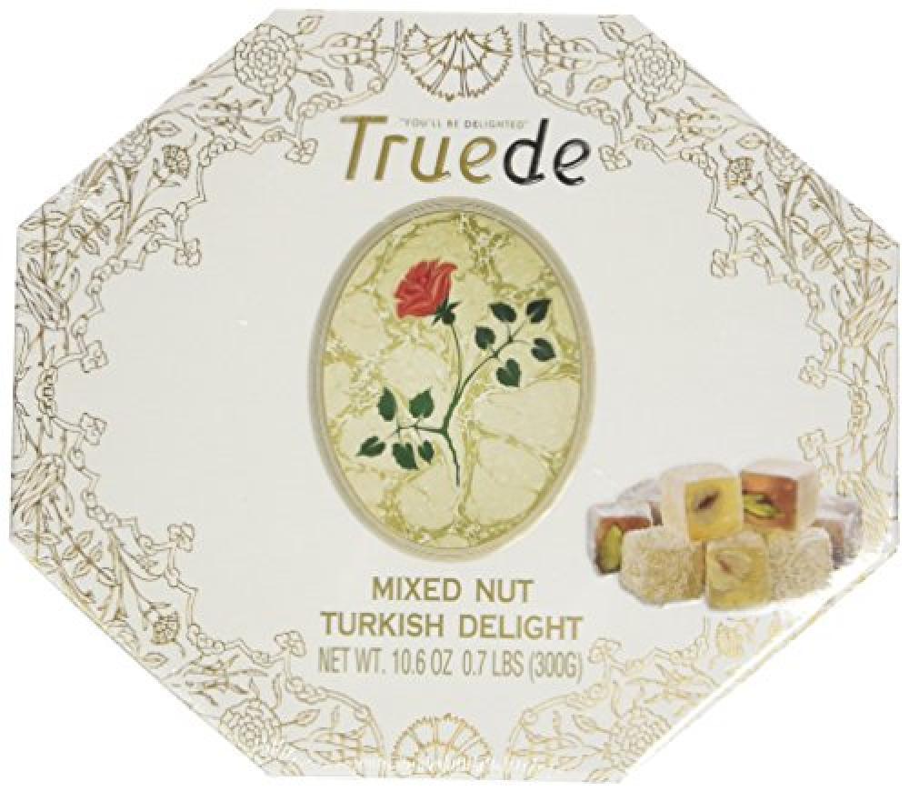 Truede Mixed Nut Turkish Delight in Hexagonal Box 300g