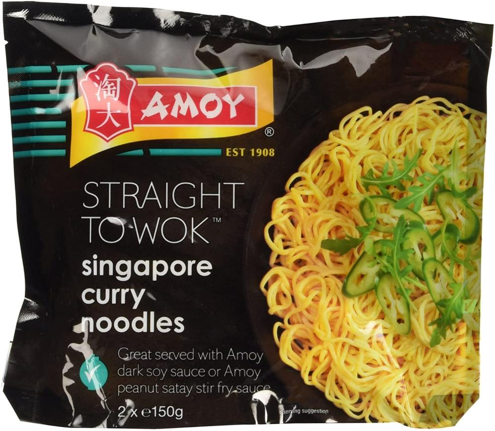 Amoy Straight To Wok Singapore Curry Noodles 2 x 150g