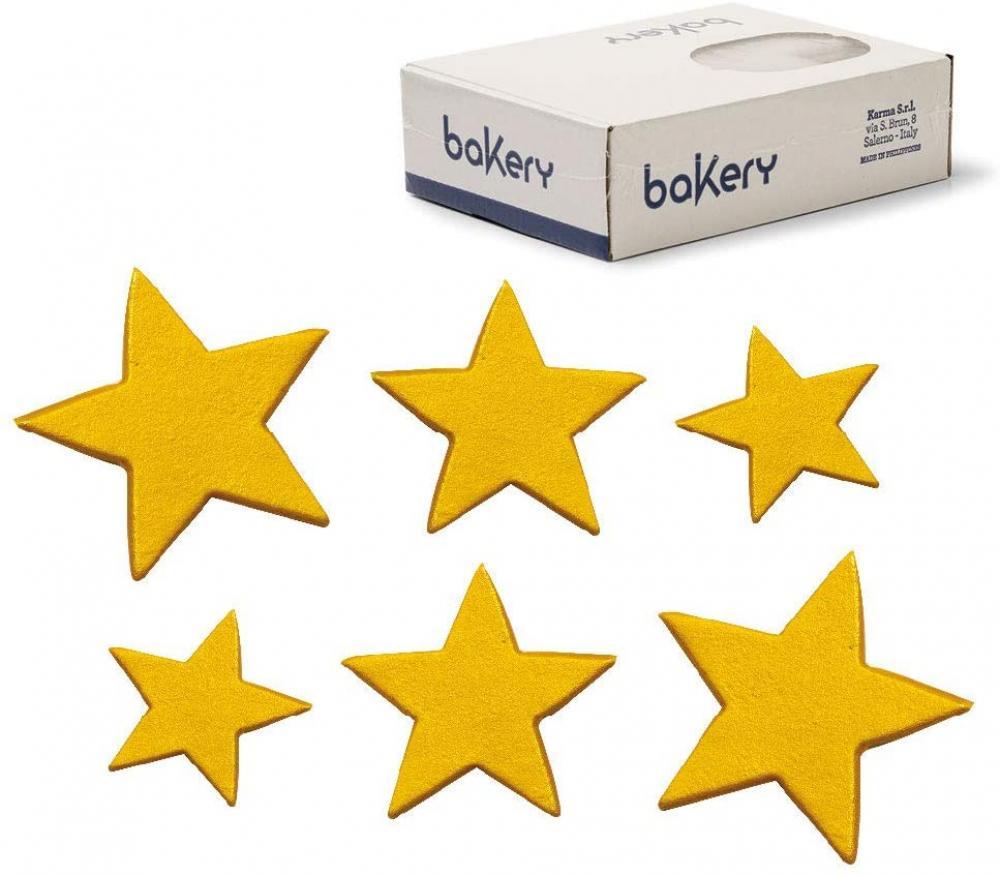 Bakery Decora Sugar Decorations Golden Stars 160 Pcs