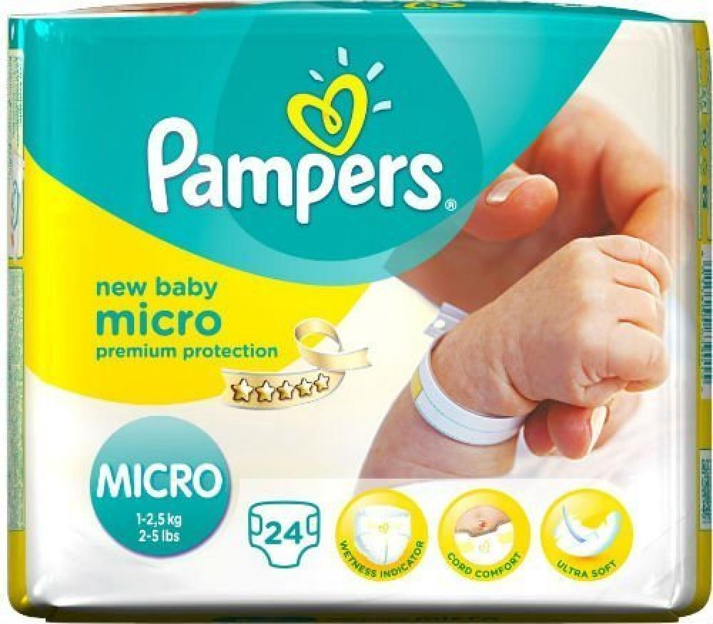 Pampers New Baby Size 0 (Micro) Carry Pack