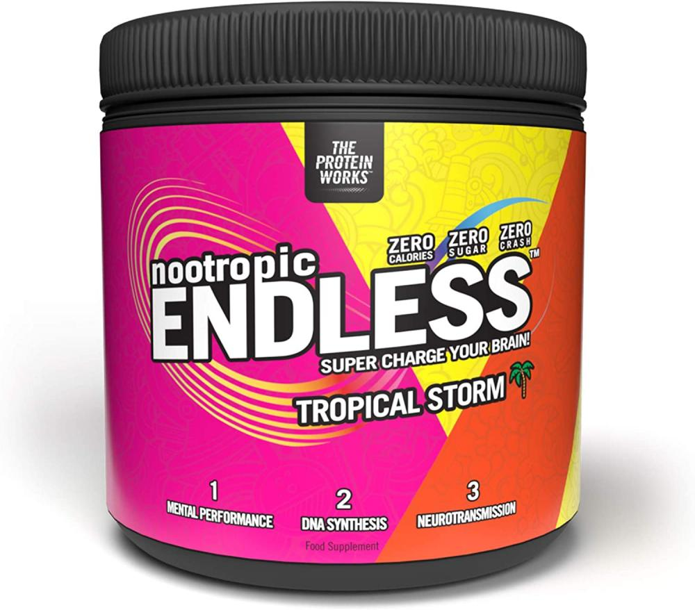 The Protein Works Endless Nootropic Enhanced Focus and Energy Brain Booster Tropical Storm 300g