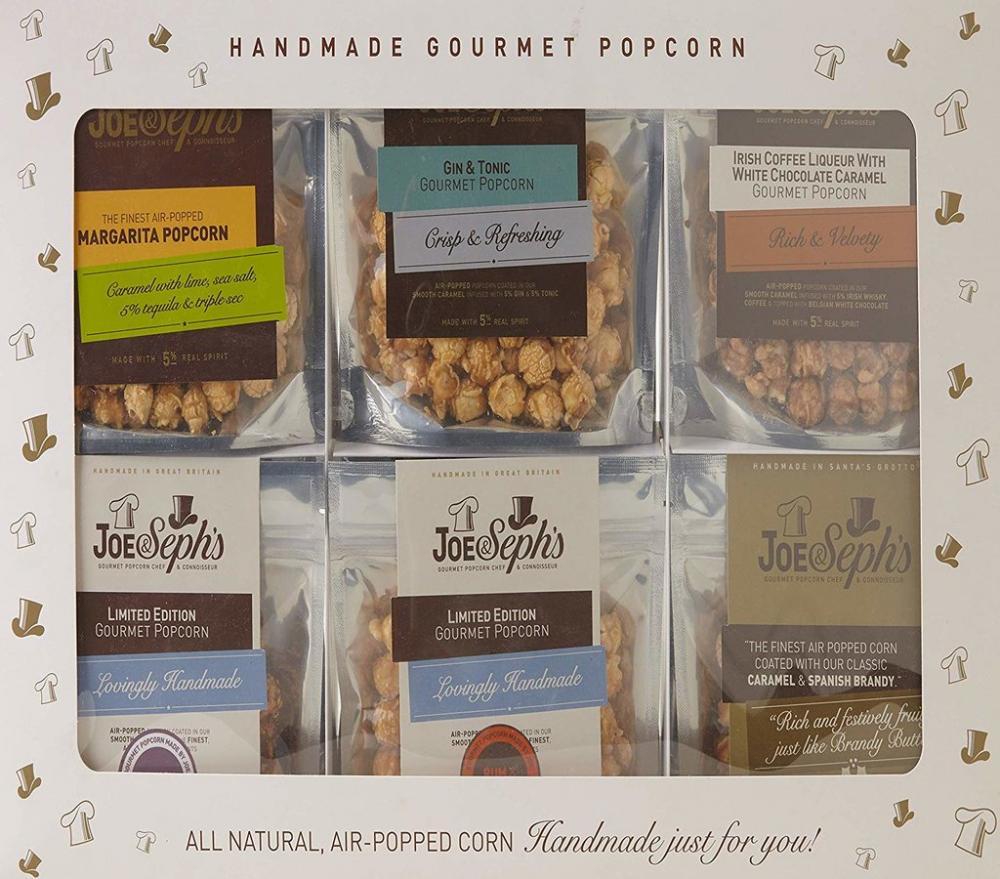 Joe and Sephs Alcohol Popcorn Tasting Gift Box 12 Pack