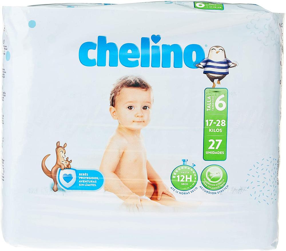 Chelino Fashion and Love Nappies Size 6 17-28kg 27 nappies
