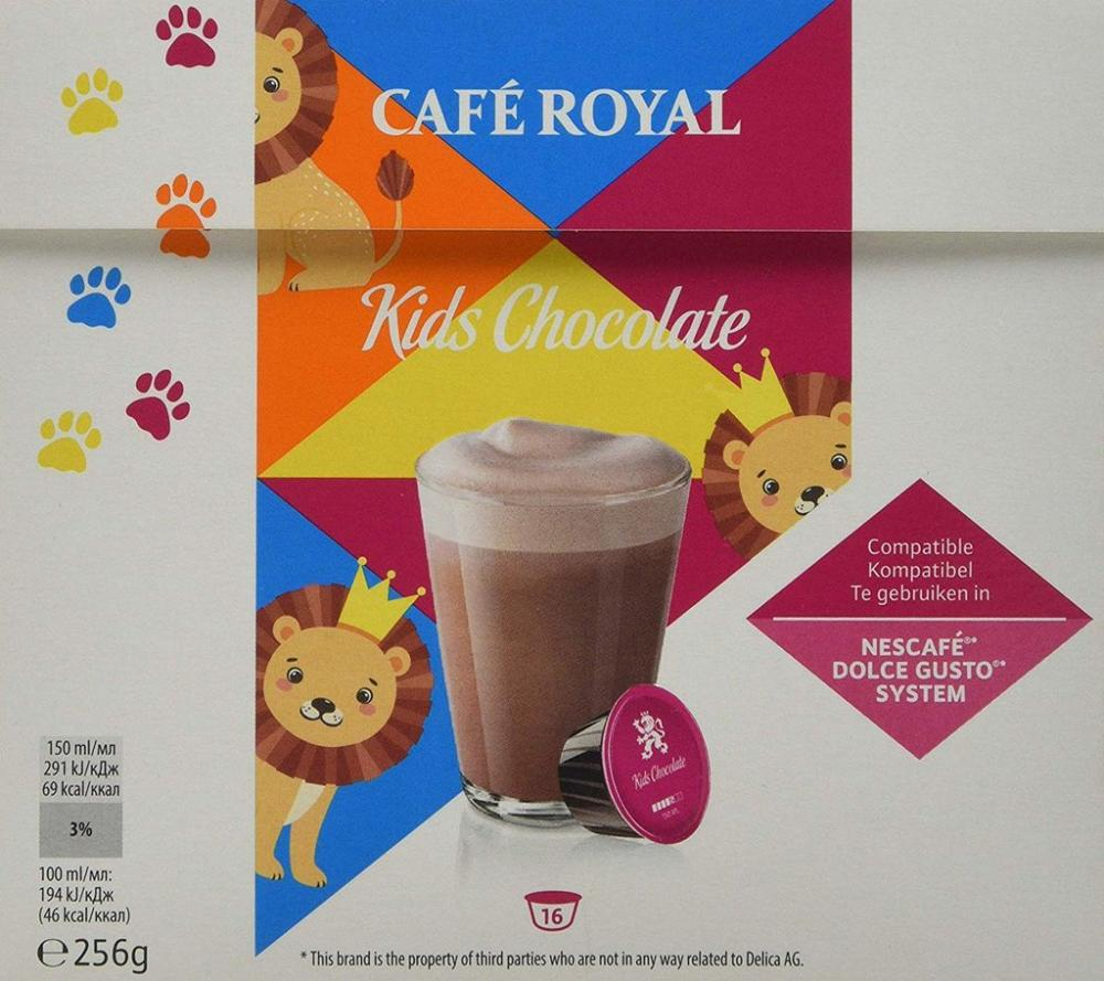 Cafe Royal Kids Chocolate Nescafe Dolce Gusto 16 Capsules
