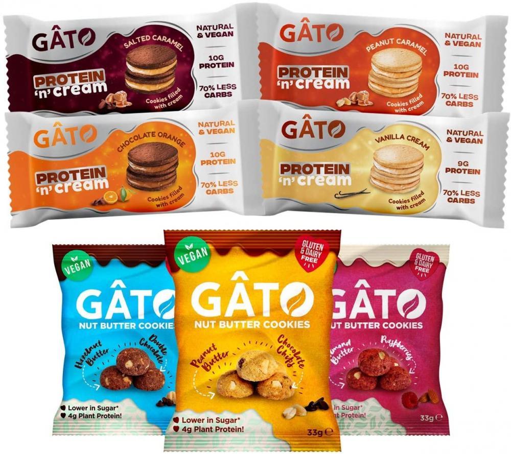 Gato Vegan Cookies Selection Box Mixed Variety Box of 7