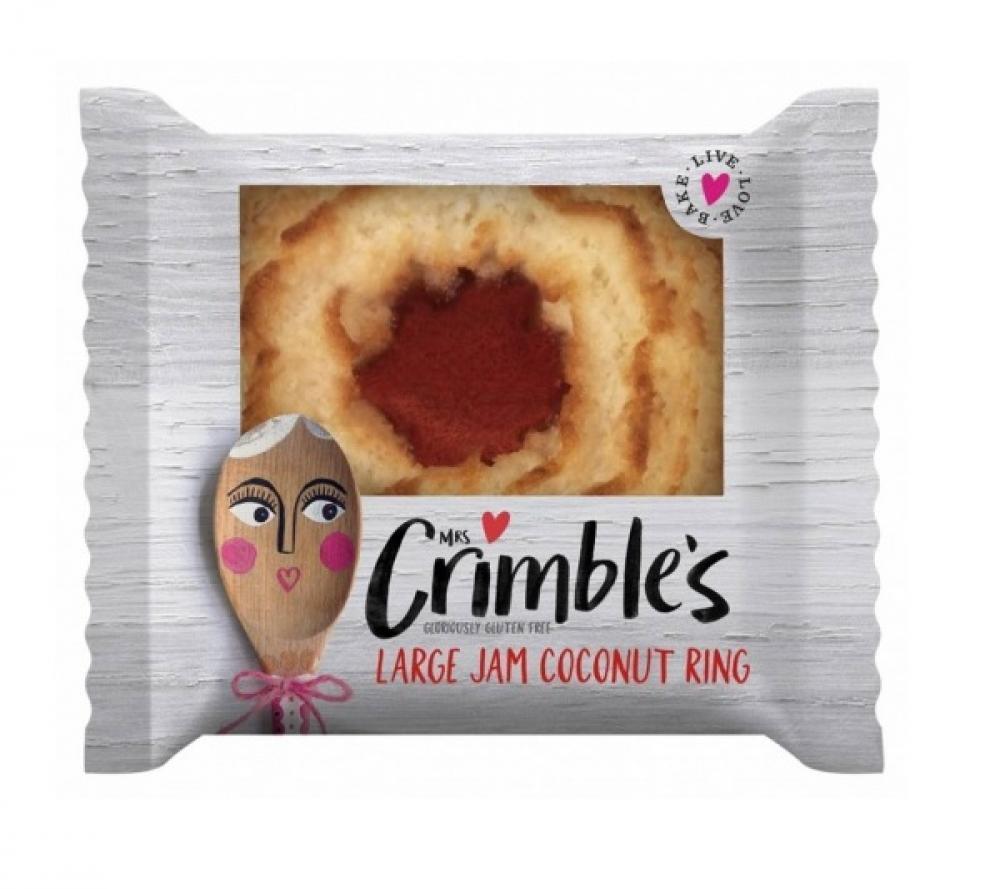Mrs Crimbles Large Jam Coconut Ring 40g