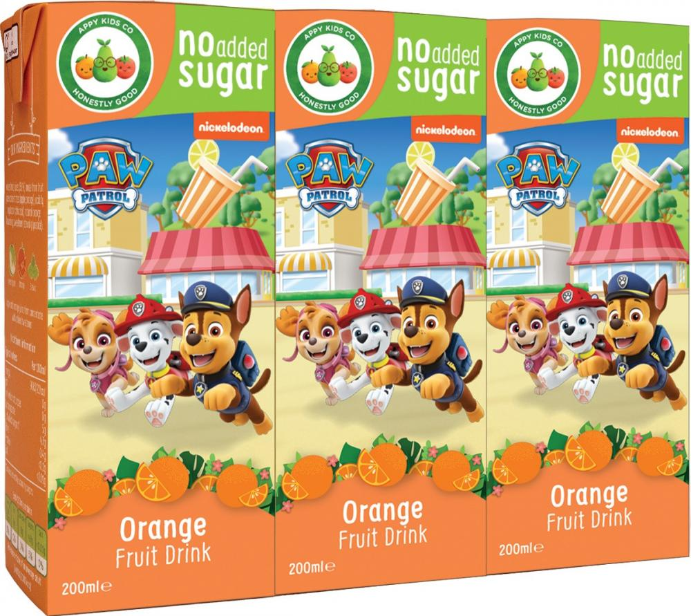 WEEKLY DEAL  Paw Patrol Orange Juice Drink 3 x 200ml