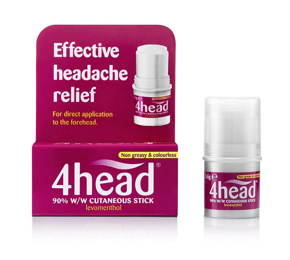 4Head Levomenthol Stick for Headache Relief 3.6g Damaged Box