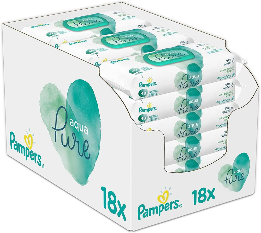 Pampers Aqua Pure Baby Wipes 48 Baby Wipes