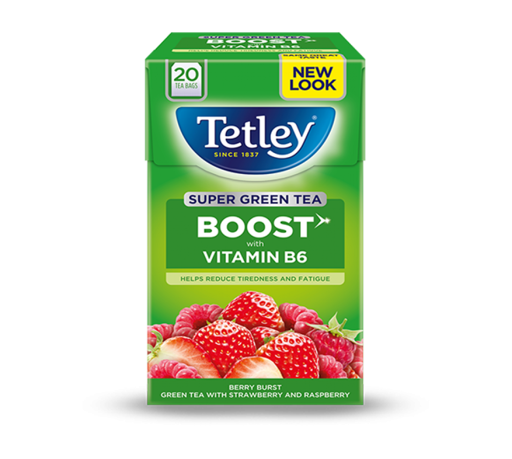 Tetley Super Green Tea Berry Burst 20 Tea Bags