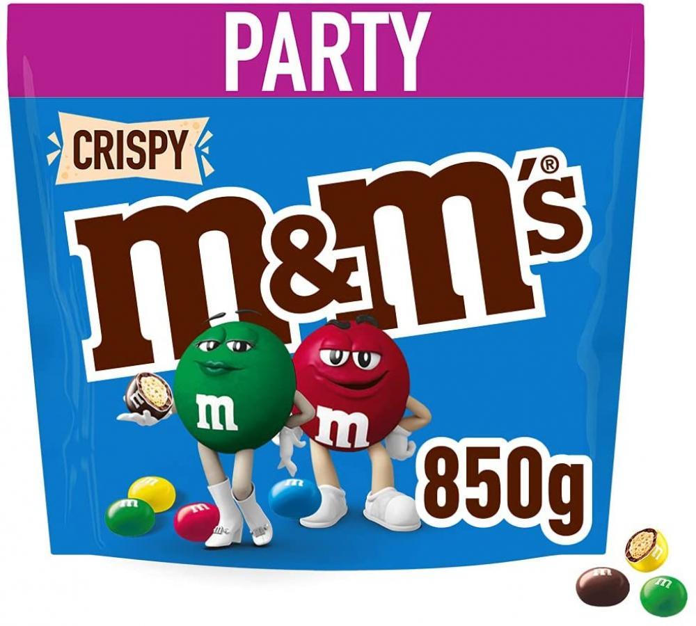 M and Ms Crispy Chocolate Party Bulk Bag 850g