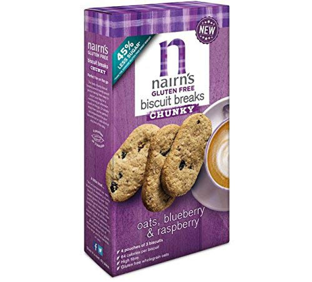 Nairns Oats Blueberry and Raspberry Chunky Buscuits 160g