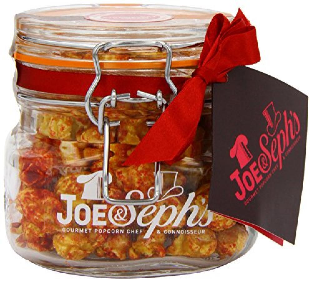 Joe and Sephs Kilner Jar of Strawberries and Cream Popcorn Jar 80g