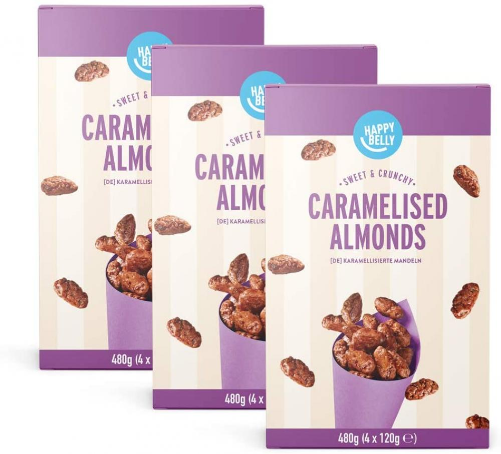 Happy Belly Caramelised Almonds 480g