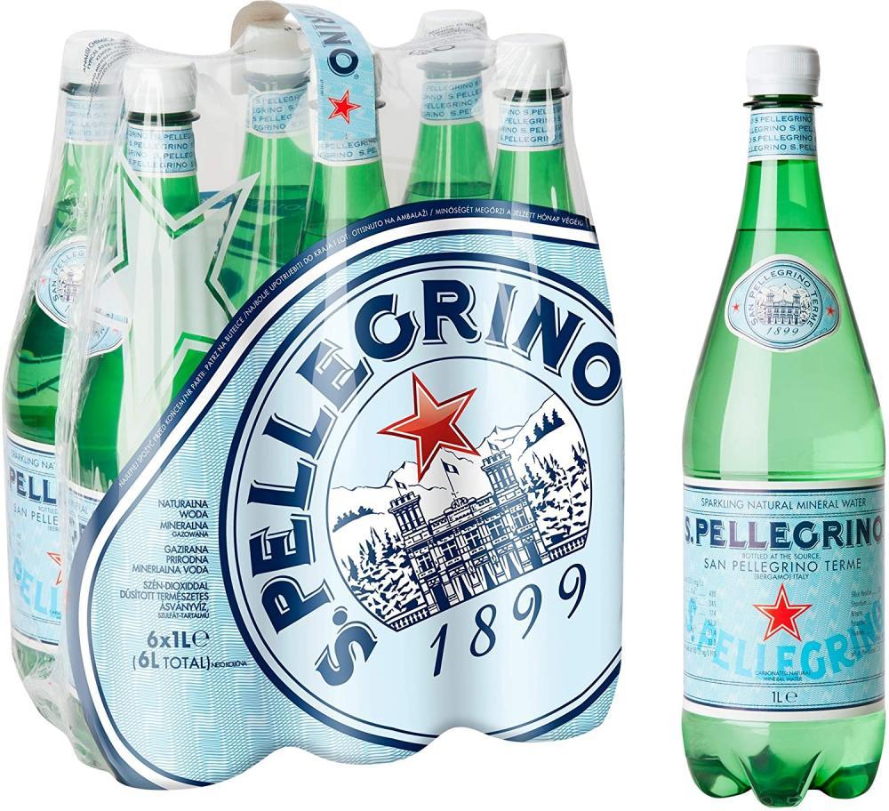 San Pellegrino Sparkling Natural Mineral Water 1L
