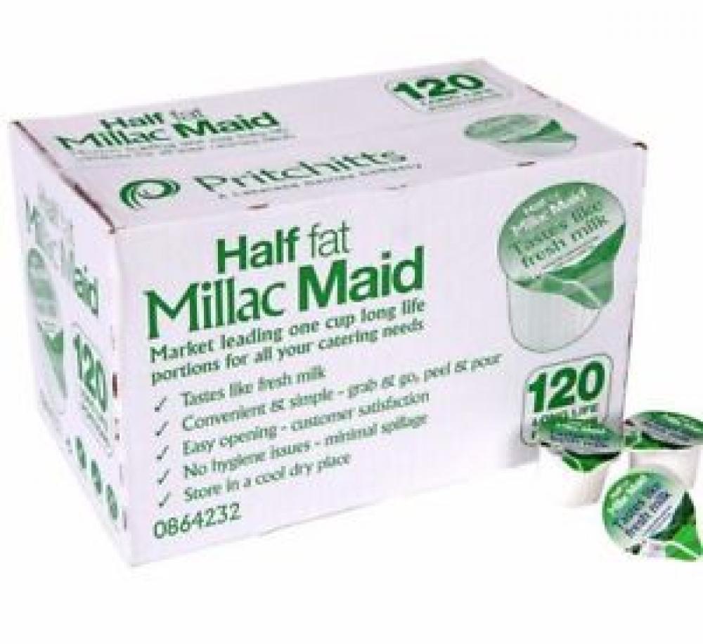 SALE  Millac Maid Half Fat Milk 120 x 12ml