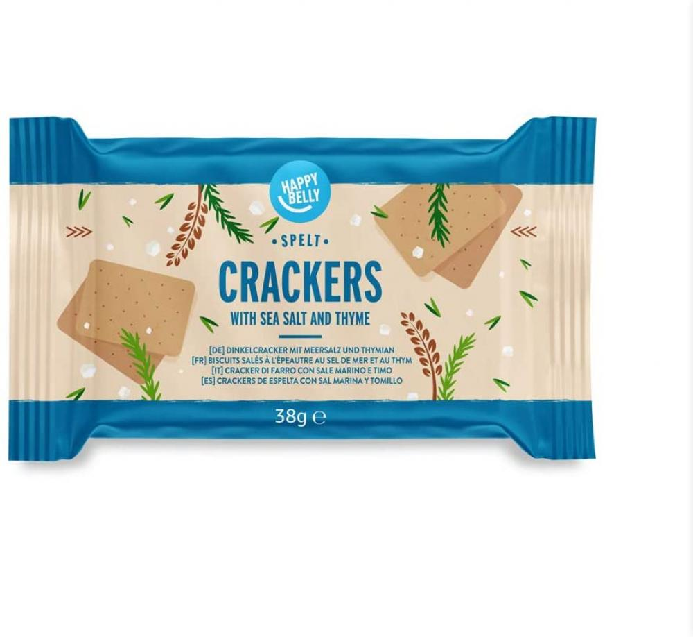 Happy Belly Spelt Cracker Thyme And Sea Salt 5x38g