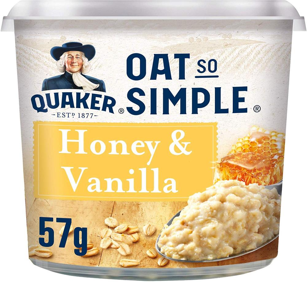 Quaker Oat So Simple Honey and Vanilla Porridge Pot 57g