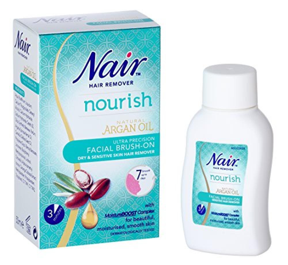 Nair Hair Remover - Natural Argan Oil Facial Brush On 50ml