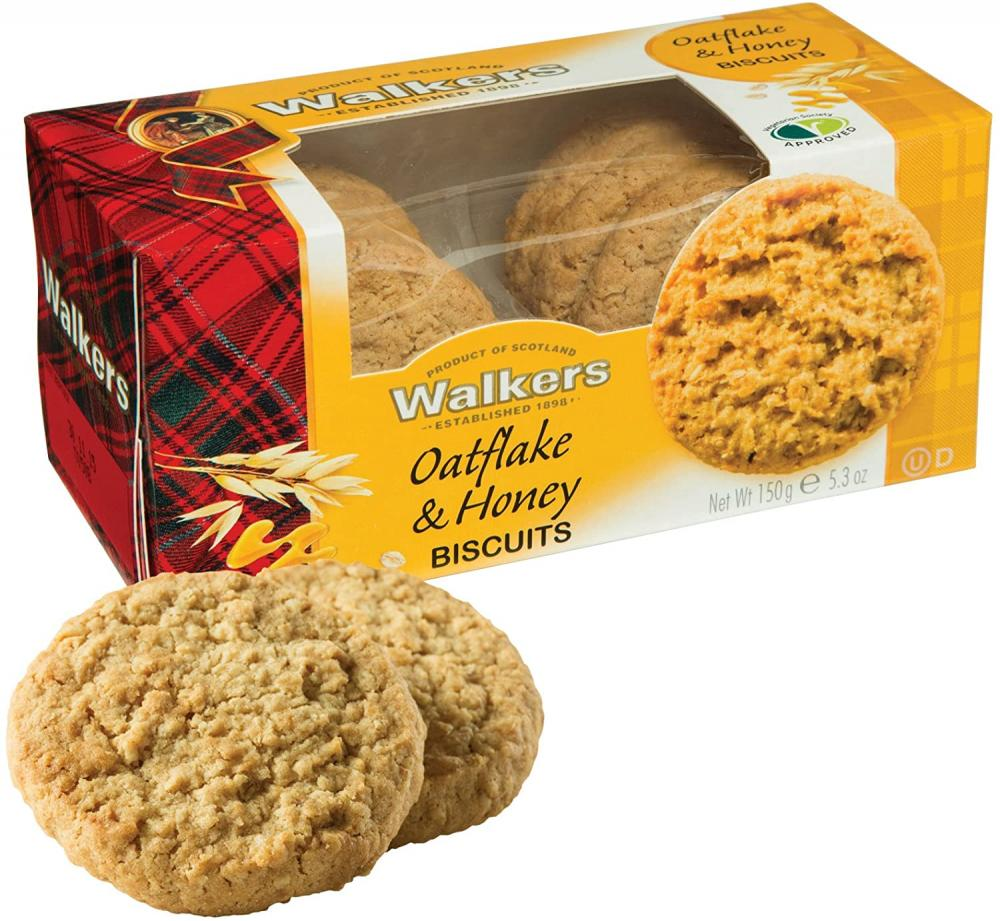 Walkers Oatflake and Honey Biscuits 150g